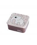 קופסת אוכל פיל- צבע פודרה