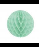 כדור כוורת תכלת עם פרנזים בצבע כסף