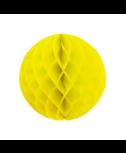 כדור כוורת צהוב עם פרנזים בזהב
