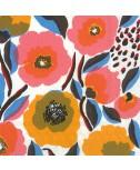 מפיות מרימקו- פרחים צבועניים רקע לבן