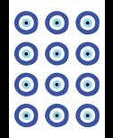 """דף מדבקות מיתוג עין- 6 ס""""מ"""
