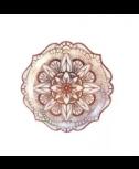 צלחות נייר מנדלה רוז גולד- קטנות