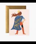 כרטיס ברכה- super mom