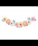 גרילנדת פרחים פסטל - Meri Meri