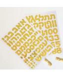 מדבקות אתיות ומספרים לבלונים - זהב