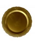 חבילת צלחות וינטג' זהב גדולות