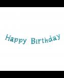 שרשרת Happy Birthday ירוק מנטה נוצץ