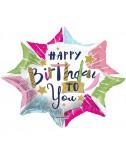 בלון כוכב Happy Birthday