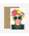 כרטיס ברכה יום הולדת - hippie birthday