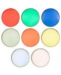 צלחות נייר צבעוניות גדולות - Meri Meri