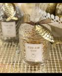 כלי זכוכית מהודר מלא שוקולד בצורת דג