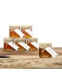 צנצנת דבש עם מכסה בד ראש השנה