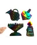דפי קסם לחנוכה - סביבונים צבעוניים