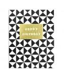 כרטיס ברכה יום הולדת - שחור לבן