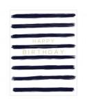כרטיס ברכה יום הולדת - פסים שחורים