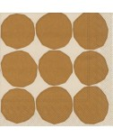 מפיות מרימקו- עיגולי זהב על רקע בז'