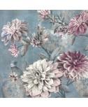 מפיות פרחים רקע כחול
