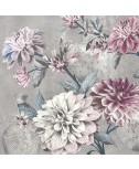 מפיות פרחים רקע אפור