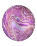 בלון הליום כדור שיש ורוד סגול זהב