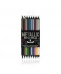 עפרונות מטאליים – חצי חצי עם אפקט הנצנוץ