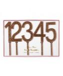 קייק טופר רב פעמי זהב נוצץ מספרים - Meri Meri