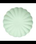 צלחות קטנות מסולסלות ידידותיות לסביבה - מנטה - Meri Meri