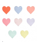 מפיות לב קטנות בצבעי פסטל - Meri Meri