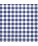 מפיות משבצות כחול לבן