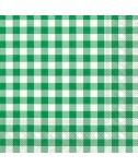 מפיות משבצות ירוק לבן