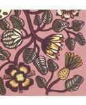 מפיות מרימקו- פרחים ועלים רקע ורוד