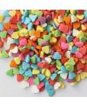 סוכריות לעוגה לבבות צבעוניים