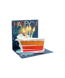 כרטיס ברכה פופ אפ- עוגה