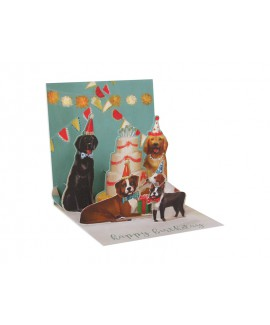 כרטיס ברכה פופ אפ- חגיגת כלבים