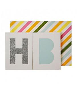 כרטיס ברכה עם כרזה HB- Meri Meri