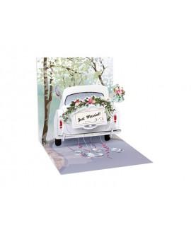 כרטיס ברכה פופ אפ- חתונה