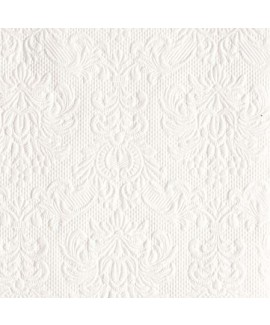 מפת נייר עם הטבעה מיוחדת - לבן