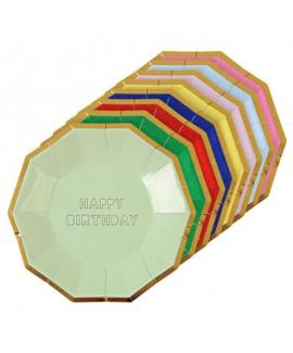 צלחות צבעוניות הטבעת HB- meri meri