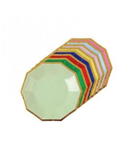 צלחות קטנות צבעוניות הטבעת HB- meri meri