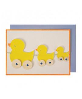 כרטיס ברכה שרשרת ברווזים- Meri Meri