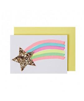 מיני כרטיס ברכה כוכב נופל - Meri Meri