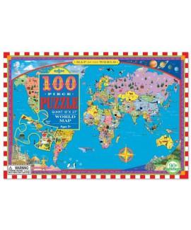 פאזל מפת העולם- 100 חלקים