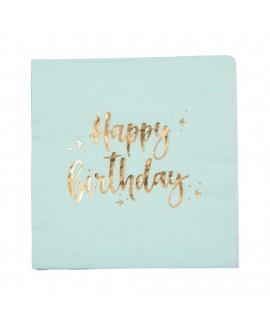 מפיות קוקטייל מנטה Happy Birthday