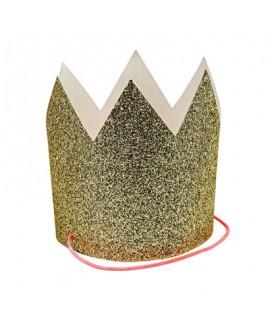 מארז 8 מיני כתרים גליטר זהב - Meri Meri