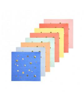 מפיות קוקטייל כוכבים צבעוניות - Meri Meri
