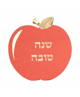 מפיות אדומות בצורת תפוח עם עיטור זהב