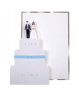 כרטיס ברכה לחתונה - Meri Meri עוגת חתונה