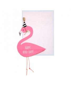 כרטיס ברכה יום הולדת- meri meri פלמינגו