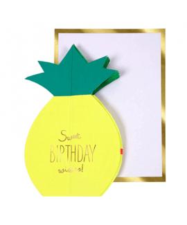 כרטיס ברכה יום הולדת- meri meri אננס