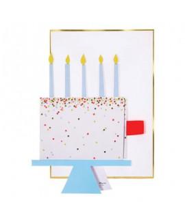כרטיס ברכה עוגה ליום הולדת- meri meri