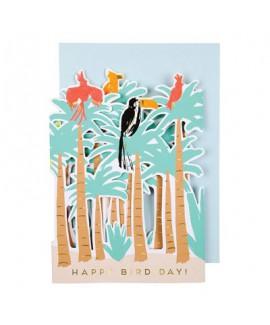 כרטיס ברכה יער טרופי- meri meri